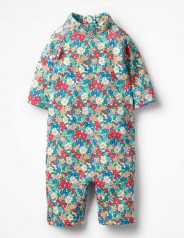 Oasis Blue Vintage Floral Pretty Surf Suit