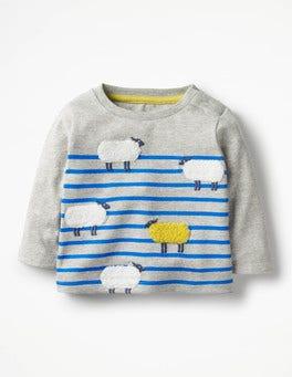 Grey Marl/Skipper Blue Sheep Odd One Out T-shirt