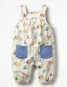 Farmyard Animals Jersey Overalls