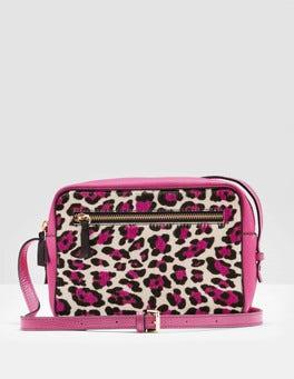 Pink Leopard Lyon Crossbody Bag
