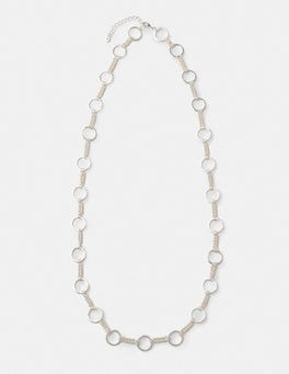 Silver Metallic Erin Necklace