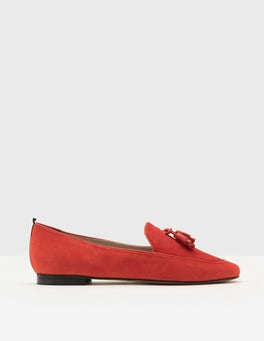 Post Box Red Ines Loafers