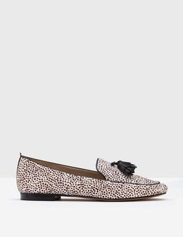 White Mini Spot Ines Loafers