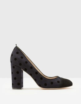 Navy & Black Spot Lisbeth Heels