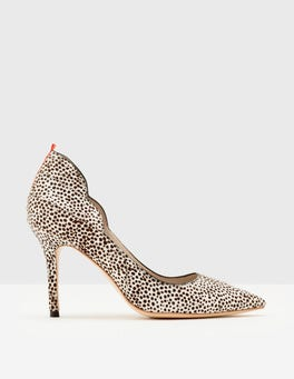 White Mini Spot Carrie High Heel Pumps