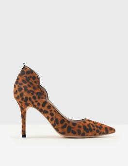 Tan Leopard Carrie High Heel Courts