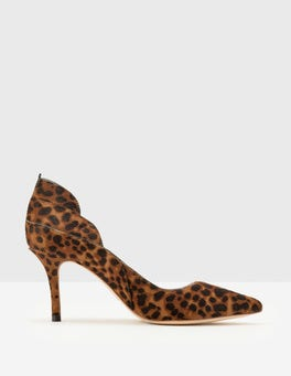 Tan Leopard Carrie Mid Heel Pumps