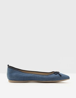 Dark Denim Pointed Ballerina