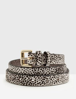 White Mini Spot Skinny Belt