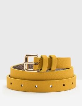 Saffron Skinny Belt