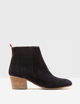 Navy Alford Ankle Boots