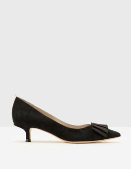 Black Adelaide Kitten Heel Pumps