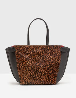 Tan Leopard Valence Shoulder Bag