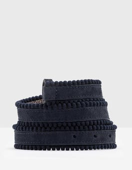 Navy Polly Waist Belt