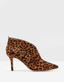 Tan Leopard Alexa Heeled Boots