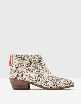 White Mini Spot Chic Ankle Boot