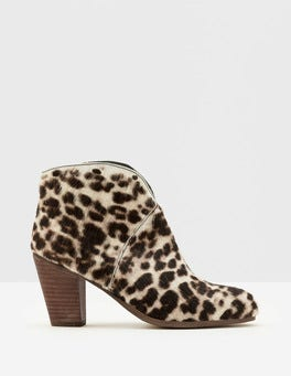 Snow Leopard Marlow Ankle Boots