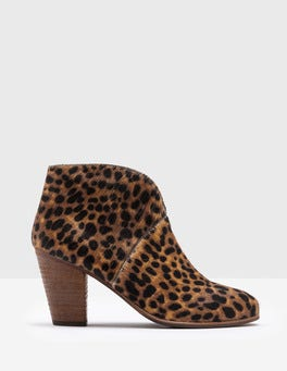 Tan Leopard Marlow Ankle Boots
