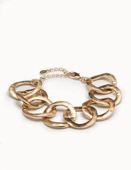 Gold Metallic Oversized Chain Bracelet