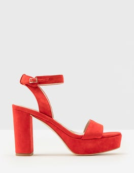 Post Box Red Delanie Heels