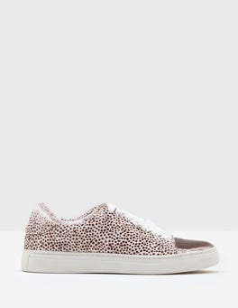 White Mini Spot Esmeralda Trainers