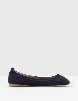 Navy Gloria Ballerinas