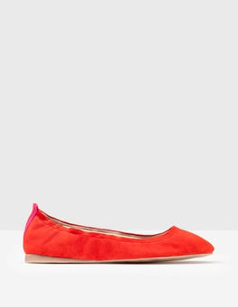 Post Box Red Gloria Ballerinas