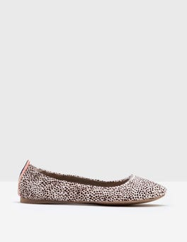 White Mini Spot Gloria Ballet Flats