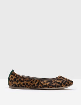 Tan Leopard Gloria Trim Ballerina