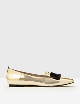 Pale Gold Metallic Geraldine Flats