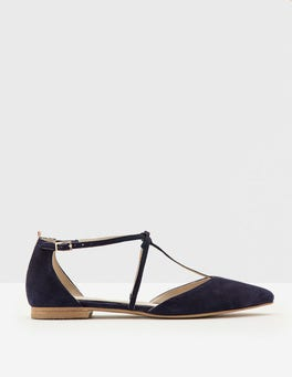Navy Jennifer T-Bar Flats