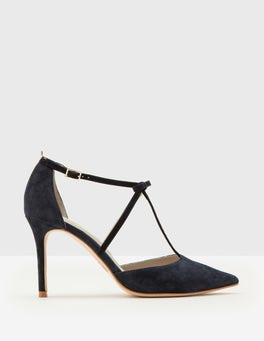 Navy Jennifer T-Bar Heels