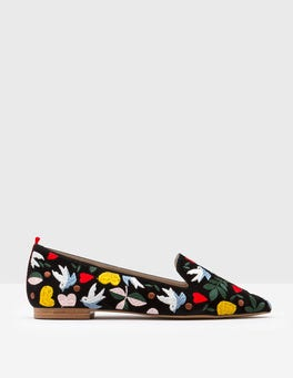Folk Embroidered Flats
