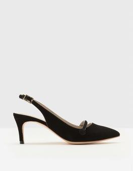 Black Lois Slingback Heels