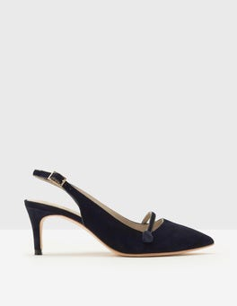 Navy Lois Slingback-Pumps