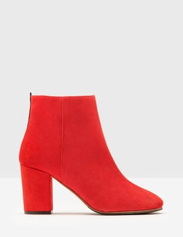 Post Box Red Etta Ankle Boots
