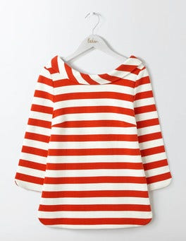Post Box Red/Ivory Sarah Ponte Top
