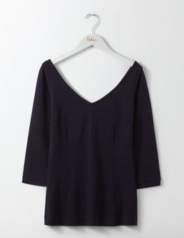 Navy Eva Ponte Top