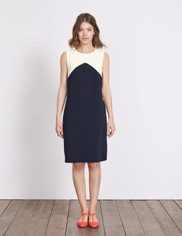 Navy/Ivory Edwina Ottoman Dress