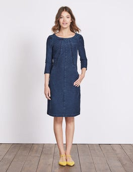 Dark Denim (Rinse) Hannah Jersey Dress