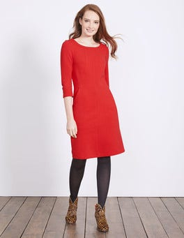Post Box Red Hannah Jersey Dress