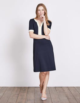 Navy/Ivory Constance Ponte Dress