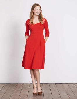 Post Box Red Julianna Ponte Dress