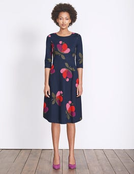 f626c89f611 Irene Ponte Dress (Navy Multi Bloom)