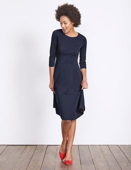 Navy Irene Ponte Dress