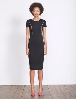 Black/Ivory Marianna Ponte Dress