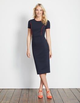 Navy/Post Box Red Marianna Ponte Dress