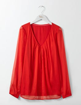 Post Box Red Aubrey Jersey Top
