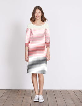 Pink Fizz Multi Stripe Lille Breton Dress