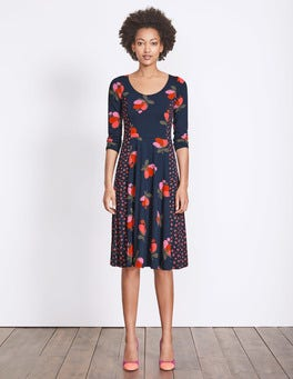 Navy Bloom Alannah Jersey Dress